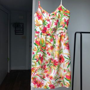 Jcrew size two floral dress with pockets